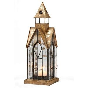 SIGNALS Glass and Metal Candle Lantern